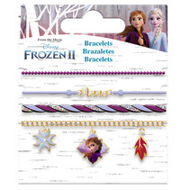 bedelarmbanden Frozen II meisjes RVS paars 4 stuks