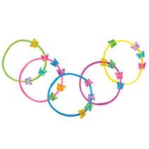 gekleurde armbandjes Vlinder junior 5 stuks