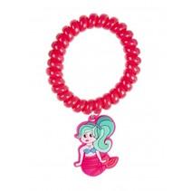 armband zeemeermin roze