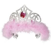 Tiara Jasmine one size zilver/roze