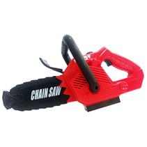 kettingzaag speelgoed met geluid 30 cm rood/zwart