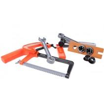 gereedschapsset metaalzaag oranje/grijs 11-delig