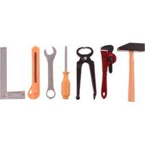 gereedschapsset Power Tools nijptang en mes 7-delig