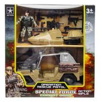 speelset Special Force jongens 24 cm geel 4-delig