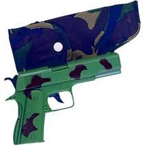 pistool militair met holster 20 cm legergroen