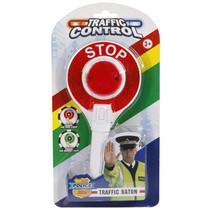 verkeersbord Stop junior 23 cm wit/rood