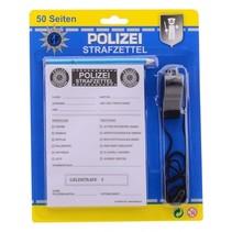 bonnenboekje politie met potlood en fluit Duits