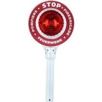 brandweer-stopbord met knipperlicht