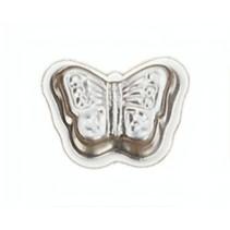vlinder bakvorm 10 x 4 cm blank staal
