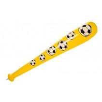 opblaasbare honkbalknuppel ballenprint geel 85 cm