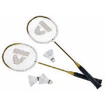 badmintonset HTF staal geel 5-delig