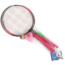 badmintonset met shuttle 44 x 22 cm roze 4-delig