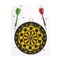 dartbord dubbelzijdig 15 cm met 2 dartpijlen