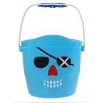 speelemmer Piraat 14 x 14,5 cm blauw