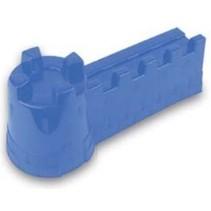 zandvorm kasteelmuur blauw 42 x 16 x 18 cm