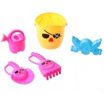 strandspeelgoed set piraat 15 cm 5-delig geel