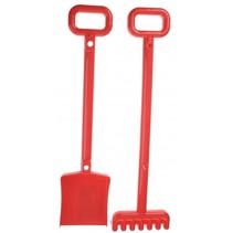 schep en hark 52 cm rood