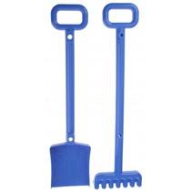 schep en hark 52 cm blauw