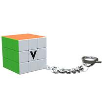 sleutelhanger Flat-puzzel 3,5 x 3,5 cm oranje/groen