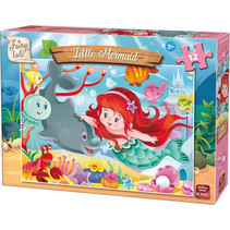 legpuzzel Kleine Zeemeermin 3D junior roze 12 stukjes