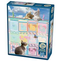 legpuzzel Quilted Kittens karton 500 stukjes