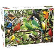 legpuzzel exotische vogels 47 x 31 cm 500 stukjes