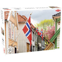 legpuzzelNoorweegse vlag 67 x 48 cm 1000 stukjes