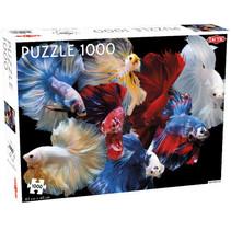 legpuzzel vechtvissen 67 x 48 cm 1000 stukjes