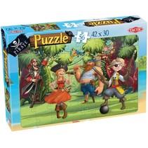 legpuzzel Pirate Jungle Jam junior karton 56 stukjes