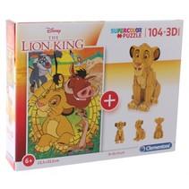 legpuzzel met bouwpakket The Lion King 104 stukjes