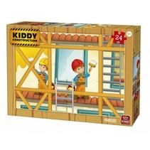 legpuzzel Kiddy Construction Painters 24 stukjes