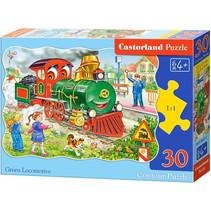 legpuzzel Green Locomotive junior karton 30 stukjes