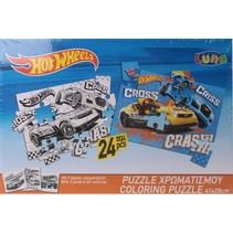 legpuzzel Hot Wheel jongens karton 24 stukjes
