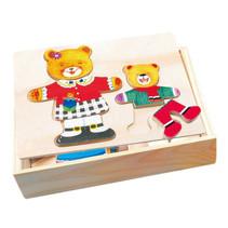 vormenpuzzel teddybeer 19 x 14 cm hout 36-delig