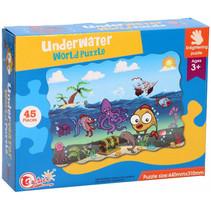vloerpuzzel Underwater World junior 44 cm 45-delig