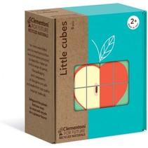 blokkenpuzzel Little Cubes Fruit junior hout 12-delig