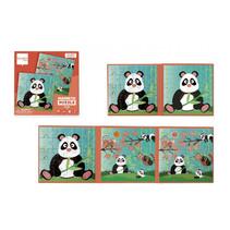 magnetische puzzel Panda 18 cm karton groen 40-delig
