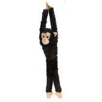 knuffel Chimpansee junior 51 cm pluche zwart