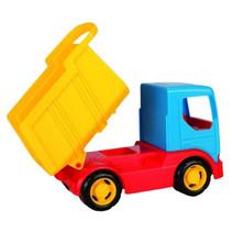 kiepwagen junior 25 cm blauw/geel/rood