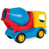 cementwagen junior 25 cm blauw/geel/rood