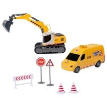 bouwvoertuigenset met accessoires 7-delig