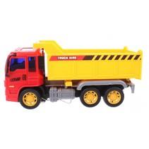 kiepwagen 21,5 x 10 x 14 cm geel/rood