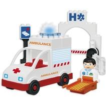 plus ambulance 19-delig multicolor