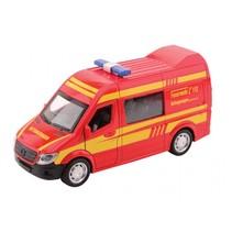 Super Cars Brandweerbus met licht en geluid 1:32 rood