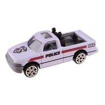 schaalmodel Patrol Police pickup 7 cm wit