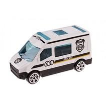 schaalmodel Patrol Police politiebus 7 cm wit