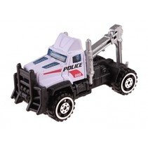 schaalmodel Patrol Police takelwagen 7 cm zwart/wit