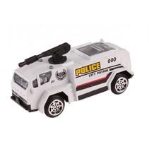 schaalmodel Patrol Police spuitwagen 7 cm wit