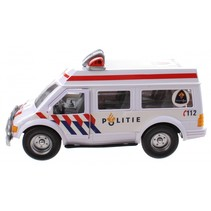 politieauto wit 26 cm
