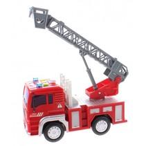 brandweerauto Firefighter jongens 18 cm rood/grijs